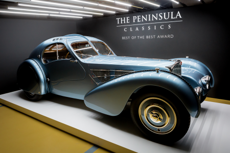 1936 Bugatti Type 57SC Atlantic wins Peninsula Classics Best of the Best Award