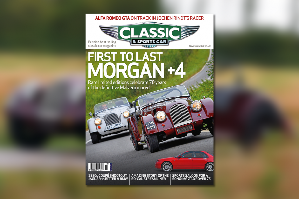 Classic & Sports Car – Morgan +4 at 70: inside the November 2020 issue of C&SC