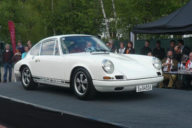 Porsche 911s Amass For One Model Concours In Spa