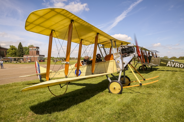 My flight in a WW1 plane over Bicester Heritage