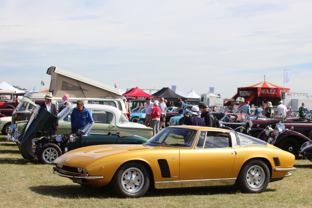 The sun shines on The Classic & Sports Car Show in association with Flywheel