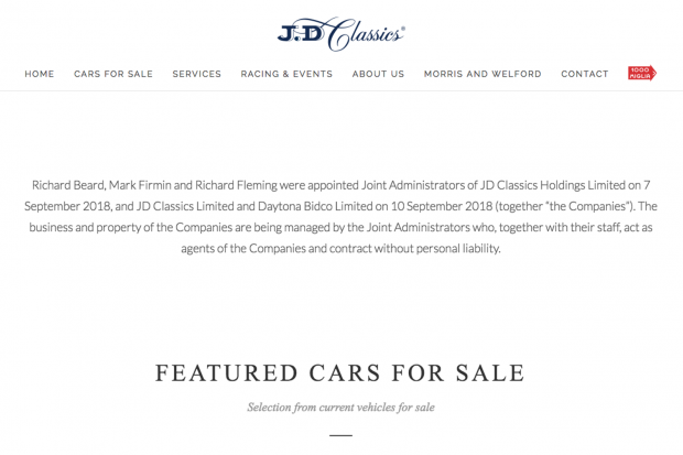Classic & Sports Car – JD Classics enters administration