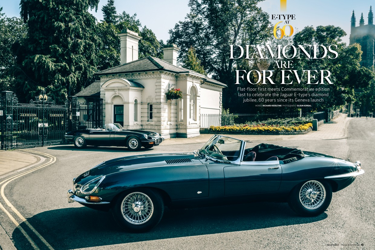 Jaguar E-type at 60: inside the January 2021 issue of C&SC