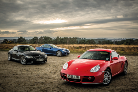 Classic & Sports Car – Sub-£20k sports coupés: BMW Z4M vs Porsche Cayman S vs Merc SLK