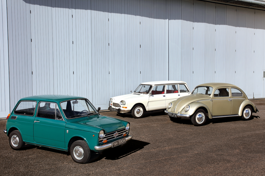 Classic & Sports Car – Love is in the air: Honda N360, Citroën Ami 8 and Volkswagen Beetle