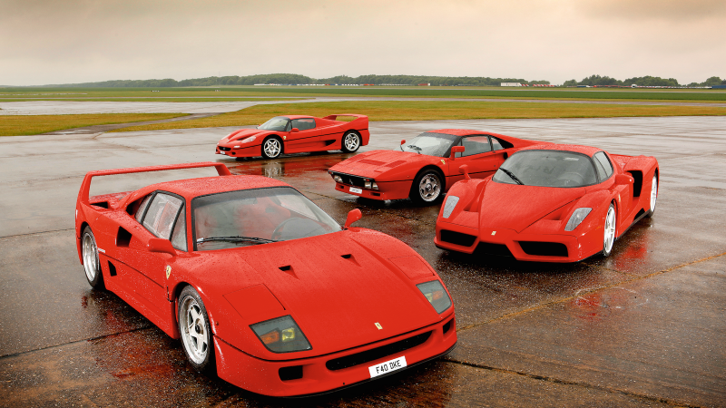 Ferrari battle: 288GTO vs F40 vs F50 vs Enzo