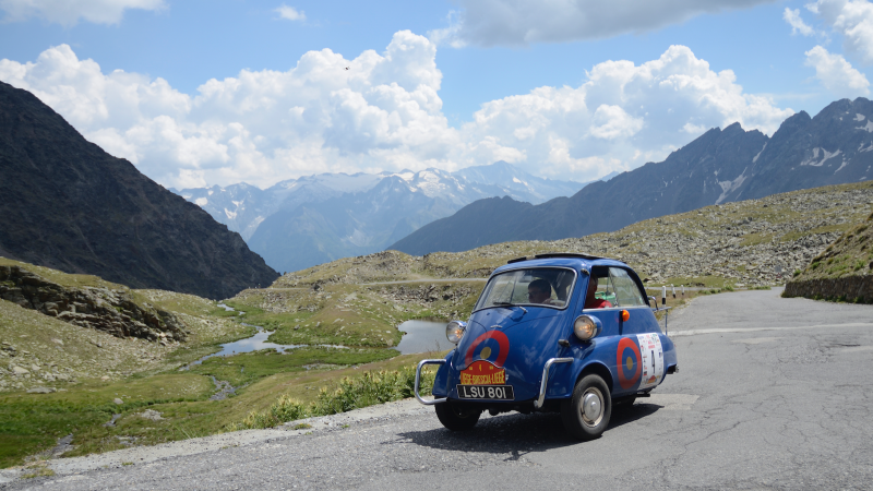 On the road with the microcar rally