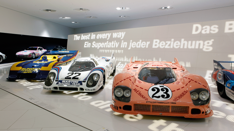 Inside the Porsche Museum in Stuttgart
